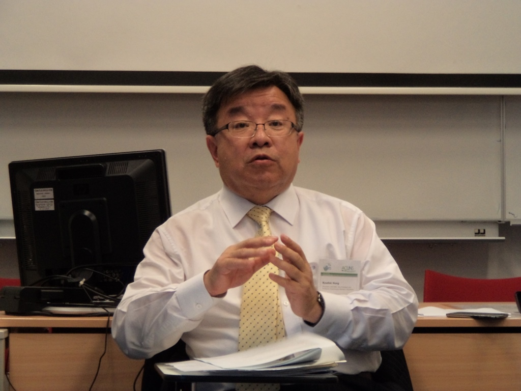 Kyu-duk Hong, President of Academic Council on UN System (KACUNS) and Professor of Sookmyung Women's University